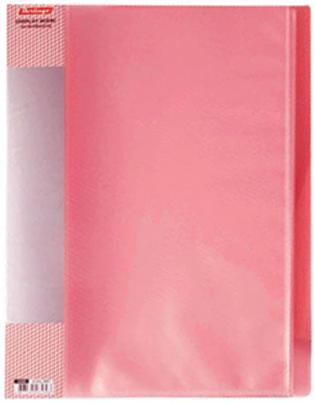 Berlingo Папка Diamond с 60 вкладышами цвет красныйFS-36052Функциональная папка с прозрачными вкладышами удобна для хранения и демонстрации документов А4. На папке предусмотрена сменная этикетка на корешке для маркировки. Изготовлена из фактурного полупрозрачного пластика.Ширина корешка - 21 мм.