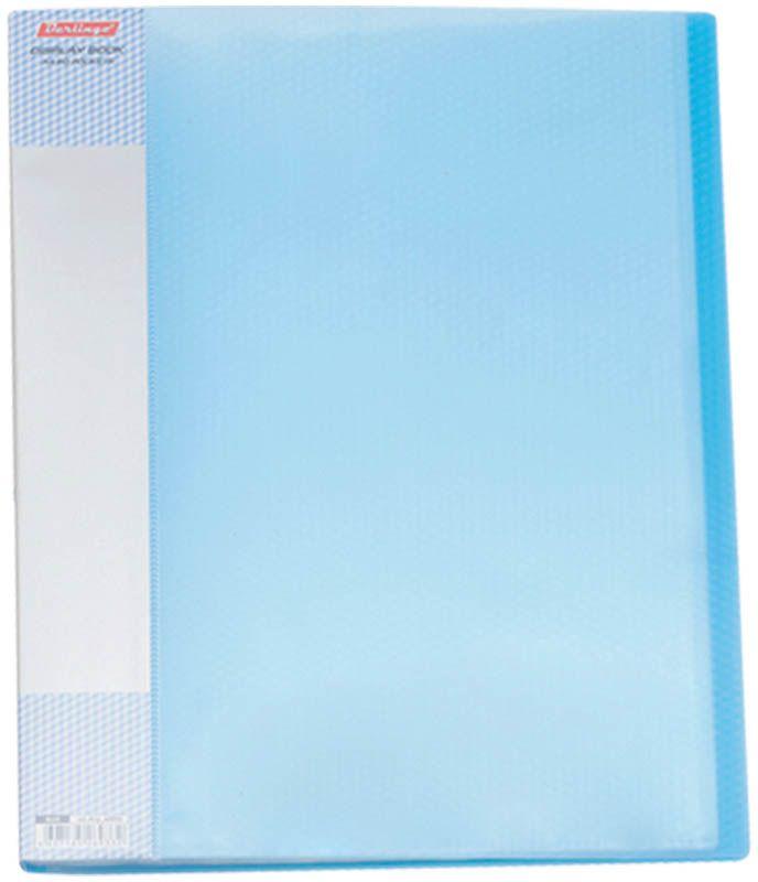 Berlingo Папка Diamond с 60 вкладышами цвет синий39283Функциональная папка с прозрачными вкладышами удобна для хранения и демонстрации документов А4. На папке предусмотрена сменная этикетка на корешке для маркировки. Изготовлена из фактурного полупрозрачного пластика.Ширина корешка - 21 мм.