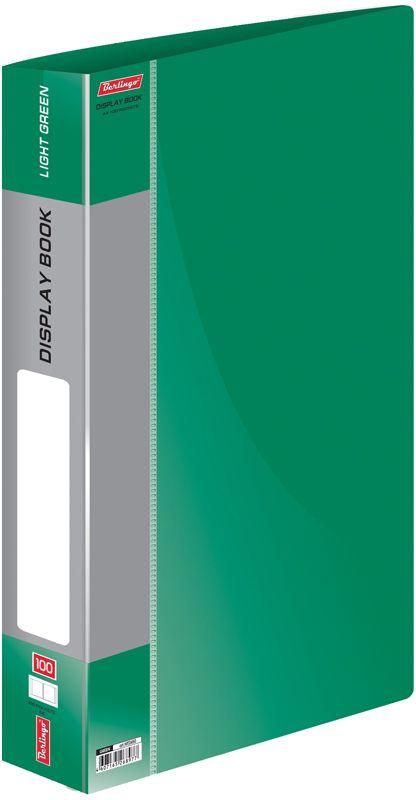 Berlingo Папка Standard со 100 вкладышами цвет зеленыйMT2450Функциональная папка Standard с прозрачными вкладышами удобна для хранения и демонстрации документов А4. Имеется внутренний карман для быстрого извлечения необходимых документов, а на корешке - сменная этикетка для маркировки.Изготовлена папка из плотного пластика. Ширина корешка - 40 мм.