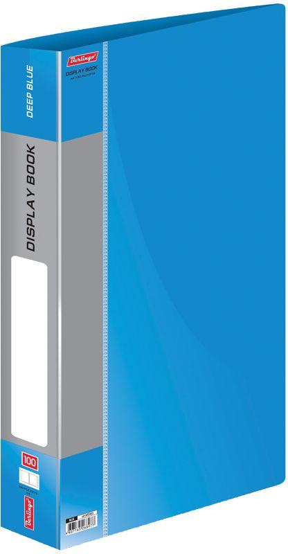 Berlingo Папка Standard со 100 вкладышами цвет синийAC-1121RDФункциональная папка Standard с прозрачными вкладышами удобна для хранения и демонстрации документов А4. Имеется внутренний карман для быстрого извлечения необходимых документов, а на корешке - сменная этикетка для маркировки.Изготовлена папка из плотного пластика. Ширина корешка - 40 мм.
