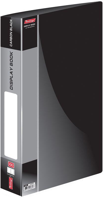 Berlingo Папка Standard со 100 вкладышами цвет черный86440Функциональная папка Standard с прозрачными вкладышами удобна для хранения и демонстрации документов А4. Имеется внутренний карман для быстрого извлечения необходимых документов, а на корешке - сменная этикетка для маркировки.Изготовлена папка из плотного пластика. Ширина корешка - 40 мм.