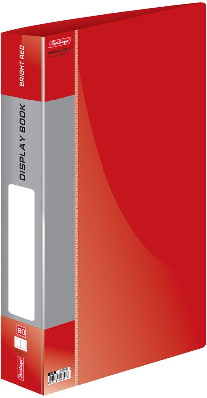 Berlingo Папка Standard с 80 вкладышами цвет красный папка aro c 20 вкладышами