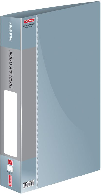 Berlingo Папка Standard с 80 вкладышами цвет серый папка aro c 20 вкладышами