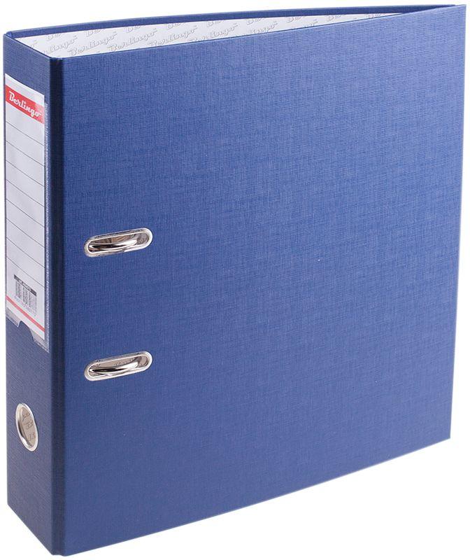 Berlingo Папка-регистратор цвет синий AM4513FS-54384Папка-регистратор Berlingo пригодится в каждом офисе и доме для хранения больших объемов документов. Внешняя сторона папки выполнена из плотного картона с ПВХ-покрытием, что обеспечивает устойчивость к влаге и износу.Папка-регистратор оснащена надежным арочным механизмом крепления бумаги. Круглое отверстие в корешке папки облегчит ее извлечение с полки, а прозрачный карман со съемной этикеткой позволяет маркировать содержимое.