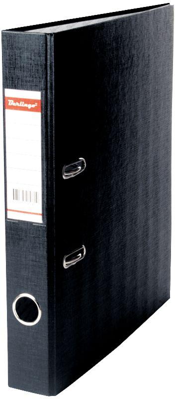 Berlingo Папка-регистратор ширина корешка 50 мм цвет черныйANp_04111Папка-регистратор Berlingo пригодится в каждом офисе и доме для хранения больших объемов документов.Обложка изготовлена из жесткого износостойкого картона с односторонним покрытием из бумвинила. Конструкция папки разработана с учетом всех особенностей эксплуатации.Папка оснащена прочным металлическим арочным механизмом, обеспечивающим надежную фиксацию перфорированных бумаг и документов формата А4. Круглое отверстие в корешке папки облегчит ее извлечение с полки, а прозрачный карман со съемной этикеткой позволяет маркировать содержимое. На внутренней стороне обложки размещено поле для записей.Папка-регистратор станет вашим надежным помощником, она упростит работу с бумагами и документами и защитит их от повреждения, пыли и влаги.Ширина корешка 5 см.