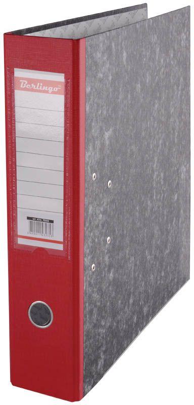 Berlingo Папка-регистратор цвет мраморный красный ATm_70503AM4710Папка-регистратор Berlingo пригодится в каждом офисе и доме для хранения больших объемовдокументов.Обложка изготовлена из жесткого износостойкого картона. Папкаоснащена прочным металлическим арочным механизмом, обеспечивающим надежную фиксациюперфорированных бумаг и документов формата А4. Круглое отверстие в корешке папки облегчитее извлечение с полки, а прозрачный карман со съемной этикеткой позволяет маркироватьсодержимое. На внутренней стороне обложки размещено поле для записей.Нижняя грань папки имеет металлическую окантовку.Папка-регистратор станет вашим надежным помощником, она упростит работу с бумагами идокументами и защитит их от повреждения, пыли и влаги.