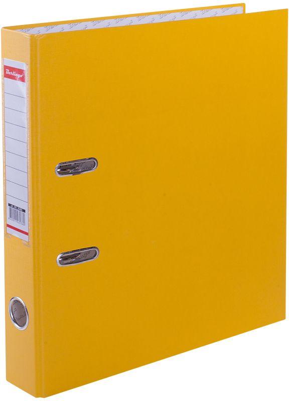 Berlingo Папка-регистратор ширина корешка 50 мм цвет желтыйATb_50405Папка-регистратор Berlingo пригодится в каждом офисе и доме для хранения больших объемов документов.Обложка изготовлена из жесткого износостойкого картона с односторонним покрытием из бумвинила. Конструкция папки разработана с учетом всех особенностей эксплуатации.Папка оснащена прочным металлическим арочным механизмом, обеспечивающим надежную фиксацию перфорированных бумаг и документов формата А4. Круглое отверстие в корешке папки облегчит ее извлечение с полки, а прозрачный карман со съемной этикеткой позволяет маркировать содержимое. На внутренней стороне обложки размещено поле для записей.Папка-регистратор станет вашим надежным помощником, она упростит работу с бумагами и документами и защитит их от повреждения, пыли и влаги.Ширина корешка 5 см.