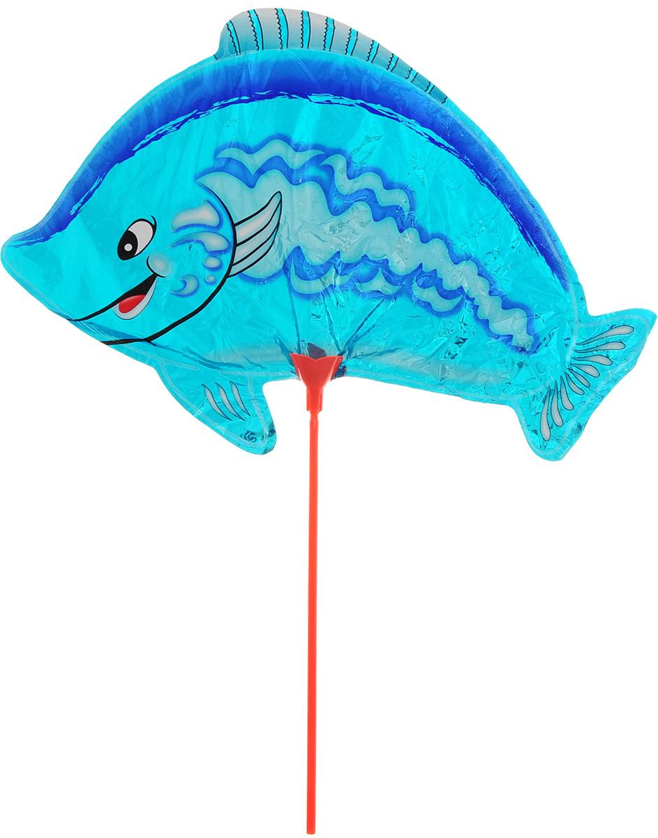 Sima-land Воздушный шарик Рыбка 10 с палочкой цвет голубой
