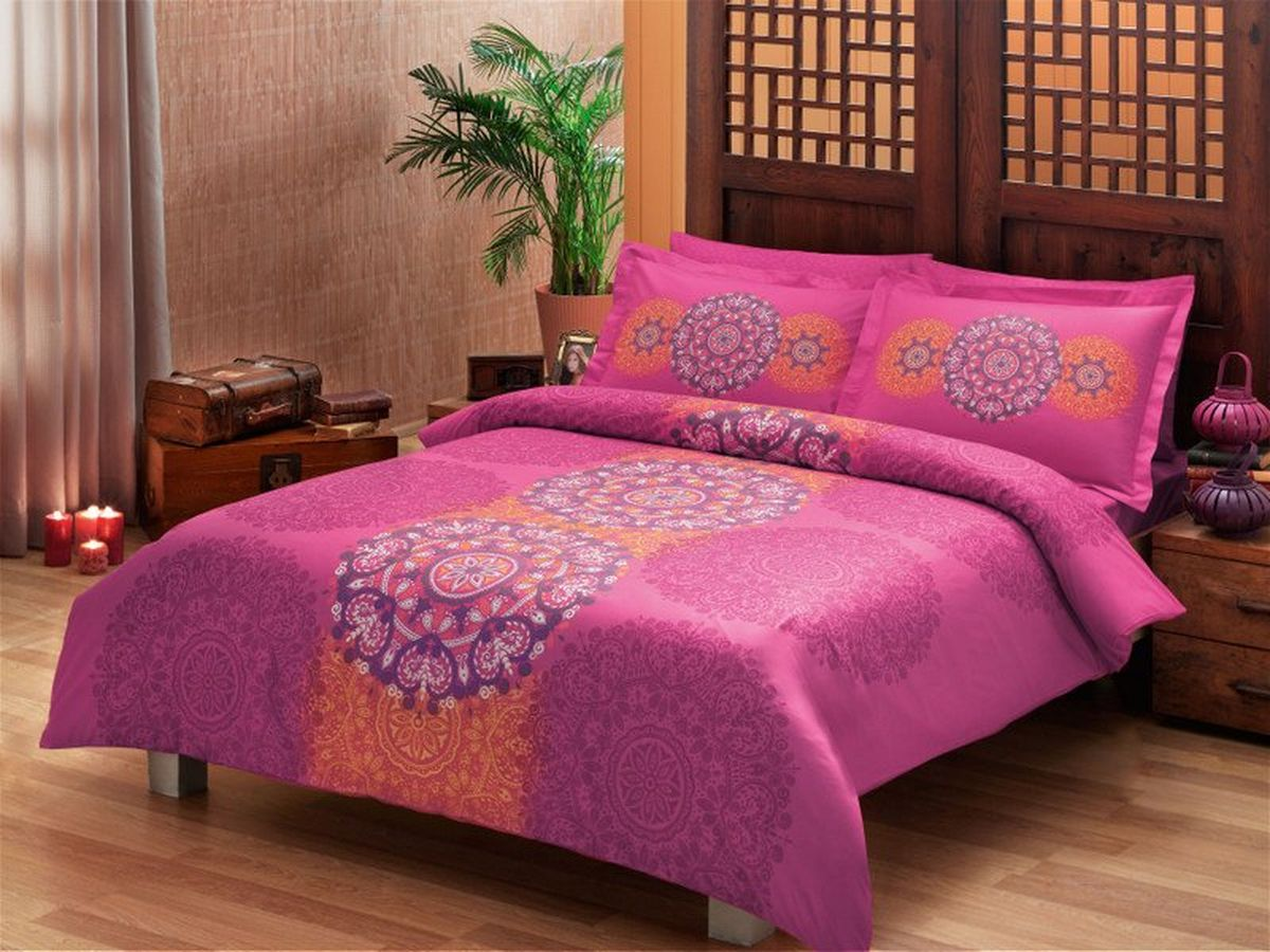 Комплект белья TAC Karina, 2-спальный, наволочки 50х70 см391602Воздушная лёгкость и прочность дарят новизну и желанный комфорт. Перкаль – изящная ткань полотняного переплетения. Отличается особой прочностью, легкостью и износоустойчивостью. Pano – рисунок наносится на ткань одним оттиском.