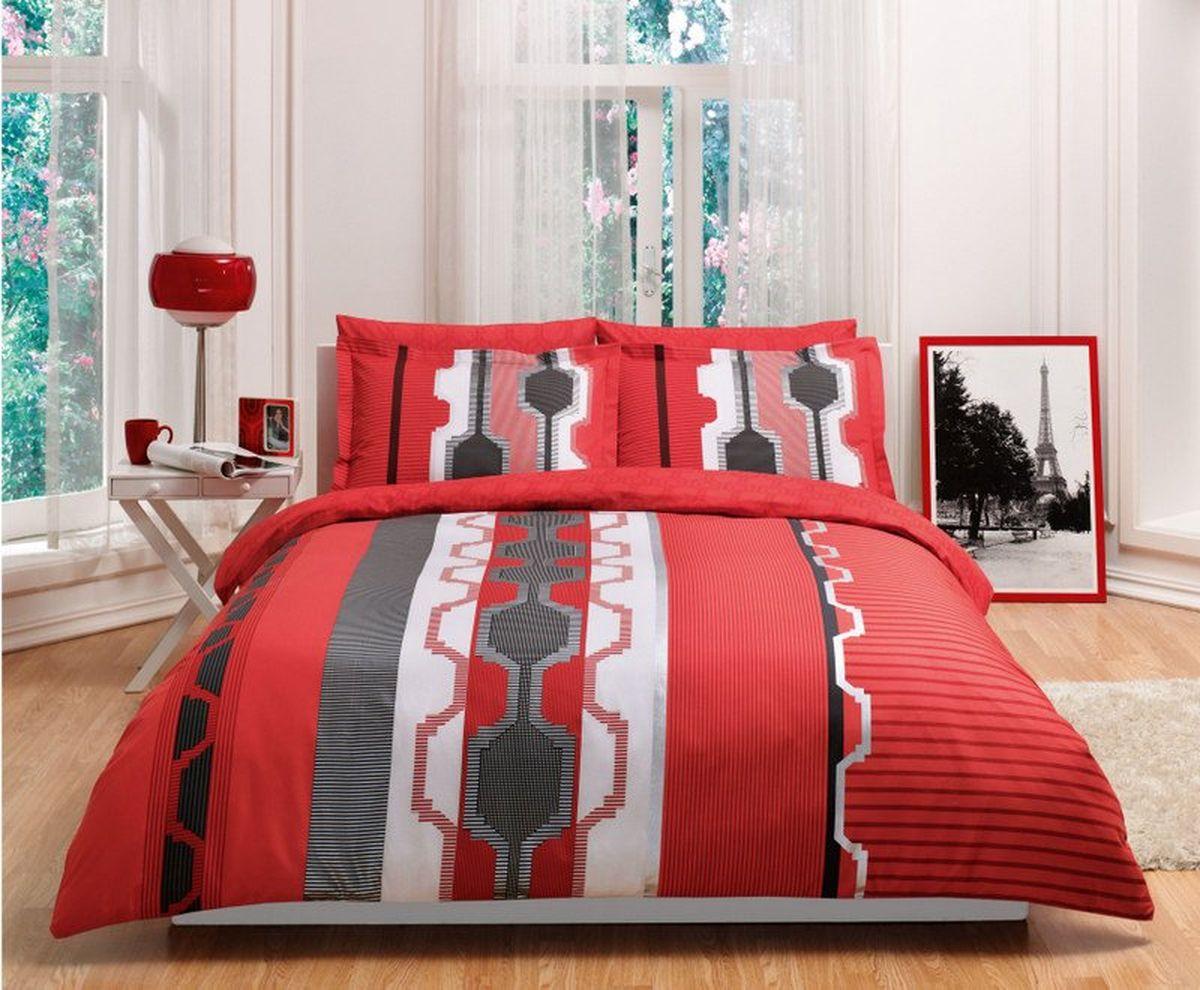 Комплект белья TAC Belva, 2-спальный, наволочки 50х703945-84580Комплект постельного белья TAC Belva выполнен из перкаля. Перкаль – изящная ткань полотняного переплетения. Отличается особой прочностью, легкостью и износоустойчивостью. Pano – рисунок наносится на ткань одним оттиском.