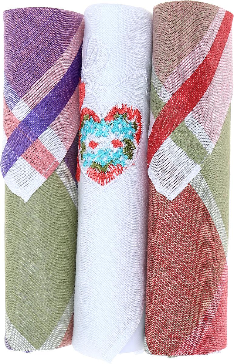Платок носовой женский Zlata Korunka, цвет: коричневый, белый, фиолетовый, 3 шт. 40423-5. Размер 28 см х 28 смБрошь-булавкаНебольшой женский носовой платок Zlata Korunka изготовлен из высококачественного натурального хлопка, благодаря чему приятен в использовании, хорошо стирается, не садится и отлично впитывает влагу. Практичный и изящный носовой платок будет незаменим в повседневной жизни любого современного человека. Такой платок послужит стильным аксессуаром и подчеркнет ваше превосходное чувство вкуса.В комплекте 3 платка.