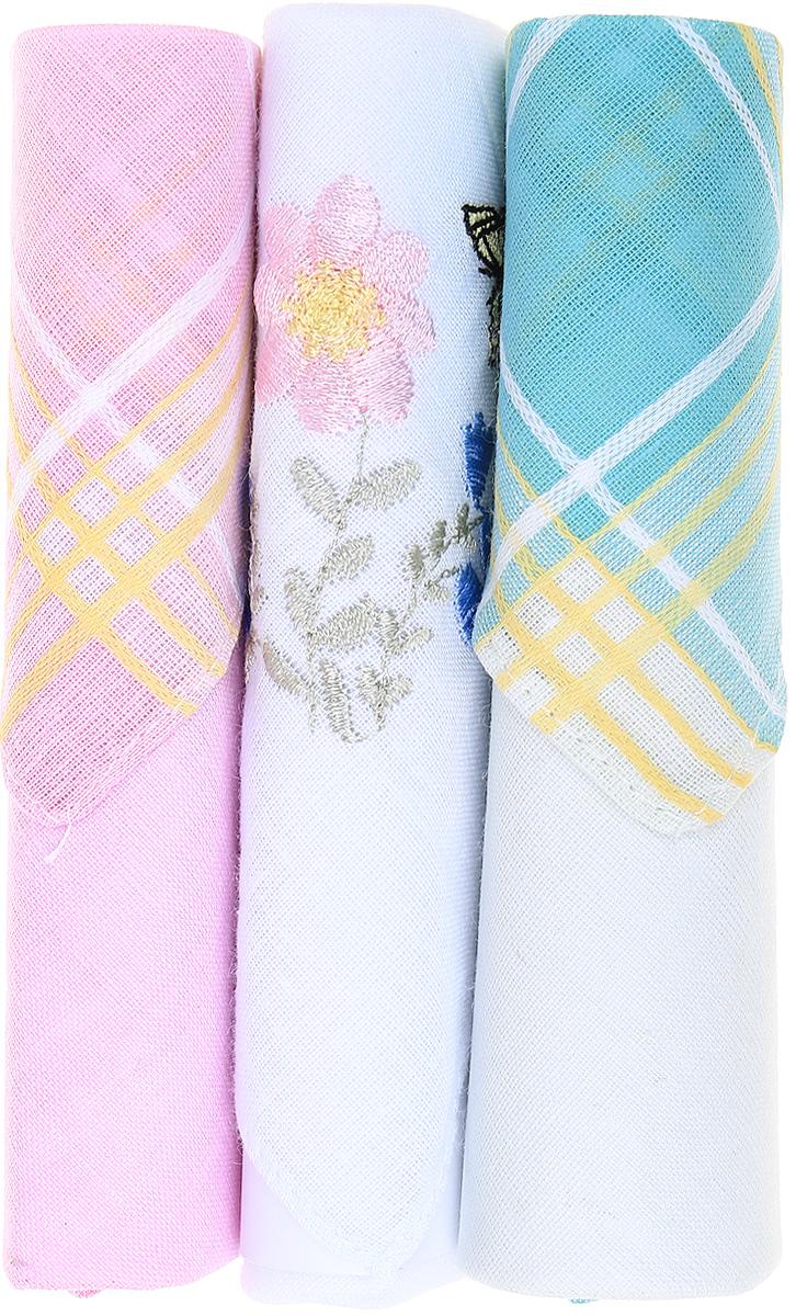 Платок носовой женский Zlata Korunka, цвет: розовый, белый, бирюзовый, 3 шт. 40423-47. Размер 28 см х 28 смАжурная брошьНебольшой женский носовой платок Zlata Korunka изготовлен из высококачественного натурального хлопка, благодаря чему приятен в использовании, хорошо стирается, не садится и отлично впитывает влагу. Практичный и изящный носовой платок будет незаменим в повседневной жизни любого современного человека. Такой платок послужит стильным аксессуаром и подчеркнет ваше превосходное чувство вкуса.В комплекте 3 платка.