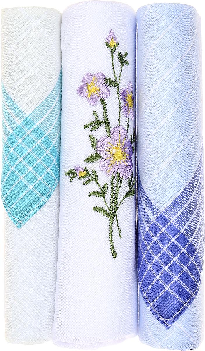 Платок носовой женский Zlata Korunka, цвет: бирюзовый, белый, голубой, 3 шт. 40423-127. Размер 28 см х 28 см39864|Серьги с подвескамиНебольшой женский носовой платок Zlata Korunka изготовлен из высококачественного натурального хлопка, благодаря чему приятен в использовании, хорошо стирается, не садится и отлично впитывает влагу. Практичный и изящный носовой платок будет незаменим в повседневной жизни любого современного человека. Такой платок послужит стильным аксессуаром и подчеркнет ваше превосходное чувство вкуса.В комплекте 3 платка.