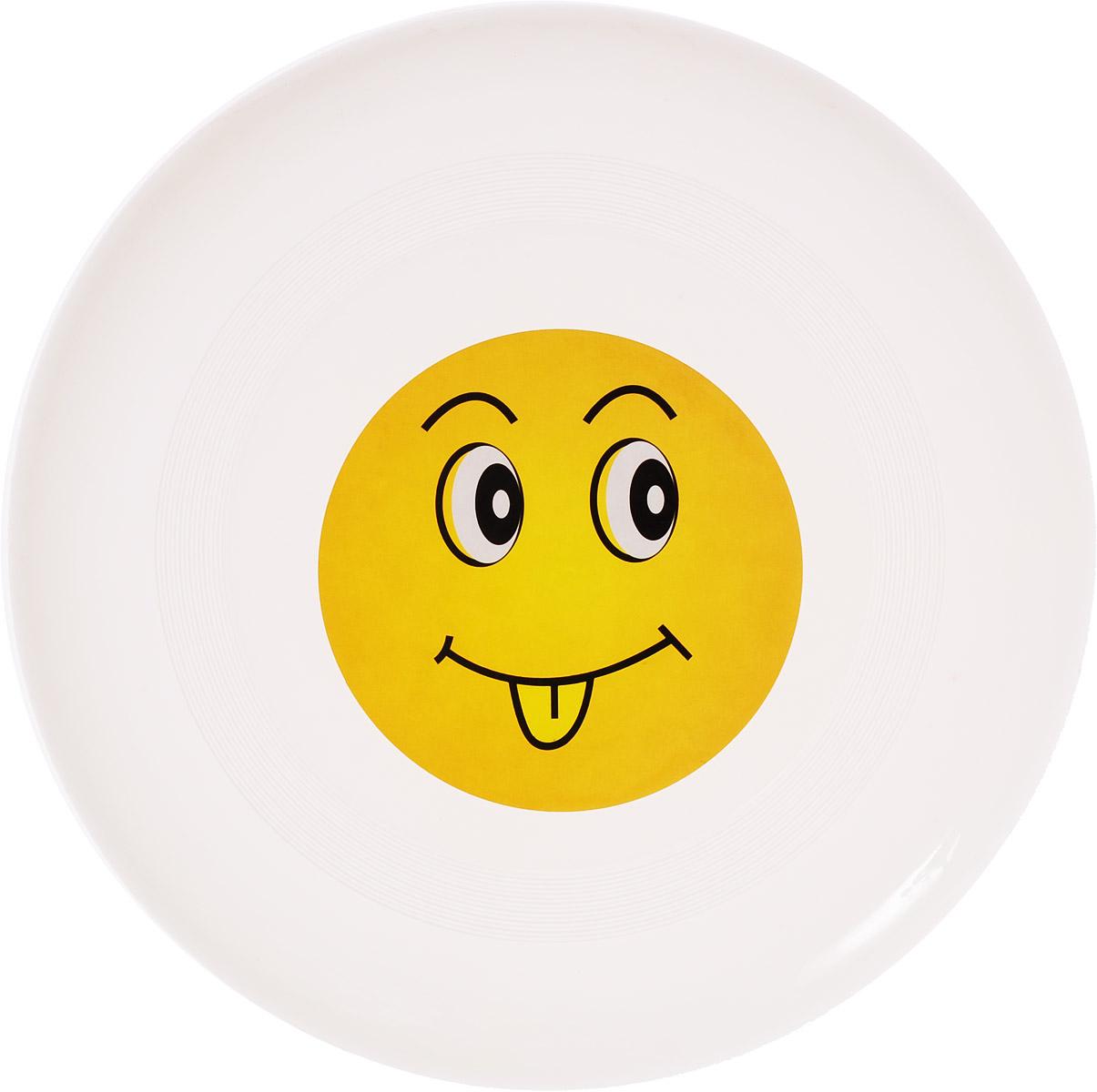 Veld-Co Летающая тарелка Смайл цвет белый диаметр 24 см