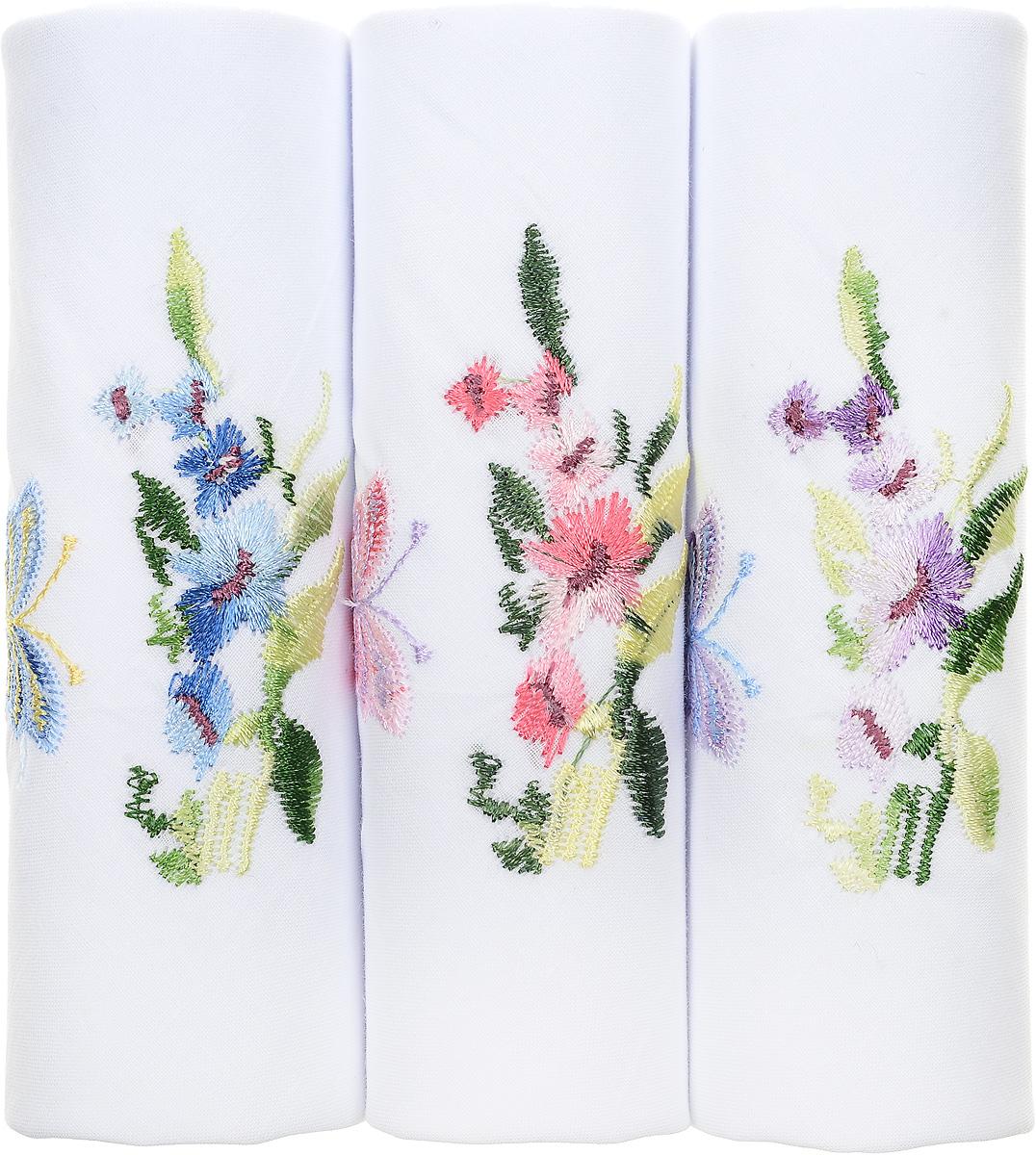 Платок носовой женский Zlata Korunka, цвет: белый, мультиколор, 3 шт. 40320-8. Размер 43 см х 43 см39864|Серьги с подвескамиОригинальный женский носовой платок Zlata Korunka изготовлен из высококачественного натурального хлопка, благодаря чему приятен в использовании, хорошо стирается, не садится и отлично впитывает влагу. Практичный и изящный носовой платок будет незаменим в повседневной жизни любого современного человека. Такой платок послужит стильным аксессуаром и подчеркнет ваше превосходное чувство вкуса.