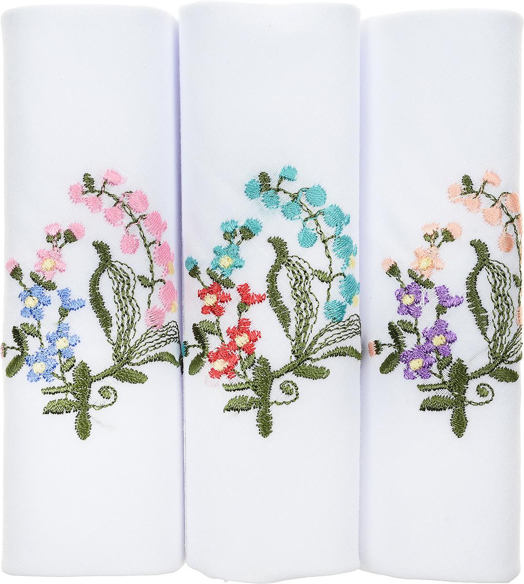 Платок носовой женский Zlata Korunka, цвет: белый, мультиколор, 3 шт. 40320-4. Размер 43 см х 43 см39864 Серьги с подвескамиОригинальный женский носовой платок Zlata Korunka изготовлен из высококачественного натурального хлопка, благодаря чему приятен в использовании, хорошо стирается, не садится и отлично впитывает влагу. Практичный и изящный носовой платок будет незаменим в повседневной жизни любого современного человека. Такой платок послужит стильным аксессуаром и подчеркнет ваше превосходное чувство вкуса.