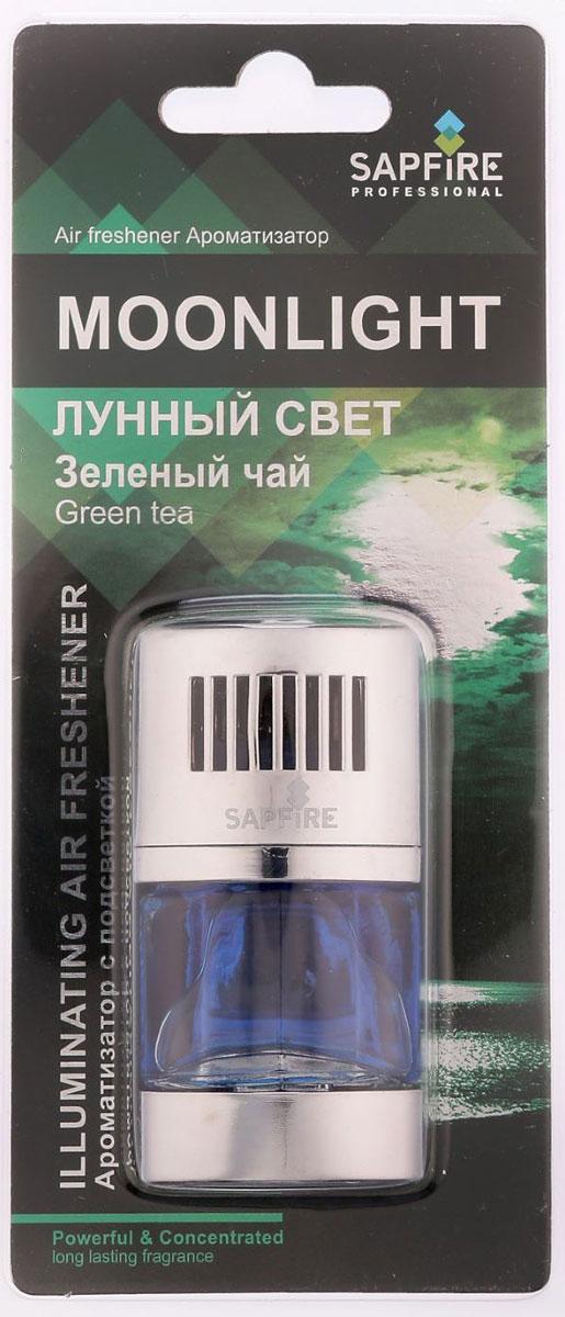Ароматизатор с подсветкой в дефлектор Sapfire Moonlight, зеленый чайRC-100BPCАвтомобильный ароматизатор Sapfire Moonlight имеет приятный аромат. Ароматизатор, выполненный из пластика и стекла, вставляется в дефлектор машины. Подсветка работает от батарейки CR2032H (3V). Для включения подсветки необходимо перевести выключатель в положение вкл. Регулятор на крышке позволяет изменить интенсивность аромата. Moonlight - новое поколение концентрированных ароматизаторов. Парфюмерная композиция произведена в Японии. Обеспечивает стойкий насыщенный аромат и свежий запах.Состав: пластик, парфюмерная композиция высокой концентрации, стабилизатор. Размер ароматизатора: 7,5 см х 4 см х 2 см.