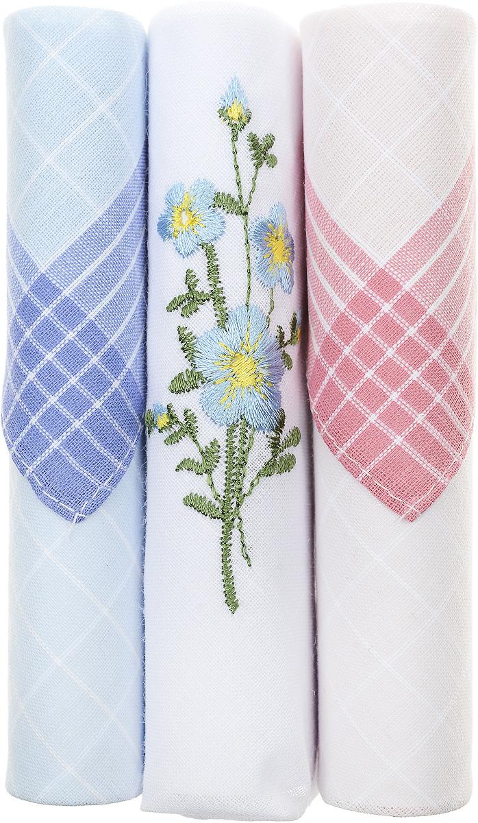 Платок носовой женский Zlata Korunka, цвет: голубой, белый, бежевый, 3 шт. 40423-129. Размер 28 см х 28 см39864|Серьги с подвескамиНебольшой женский носовой платок Zlata Korunka изготовлен из высококачественного натурального хлопка, благодаря чему приятен в использовании, хорошо стирается, не садится и отлично впитывает влагу. Практичный и изящный носовой платок будет незаменим в повседневной жизни любого современного человека. Такой платок послужит стильным аксессуаром и подчеркнет ваше превосходное чувство вкуса.В комплекте 3 платка.