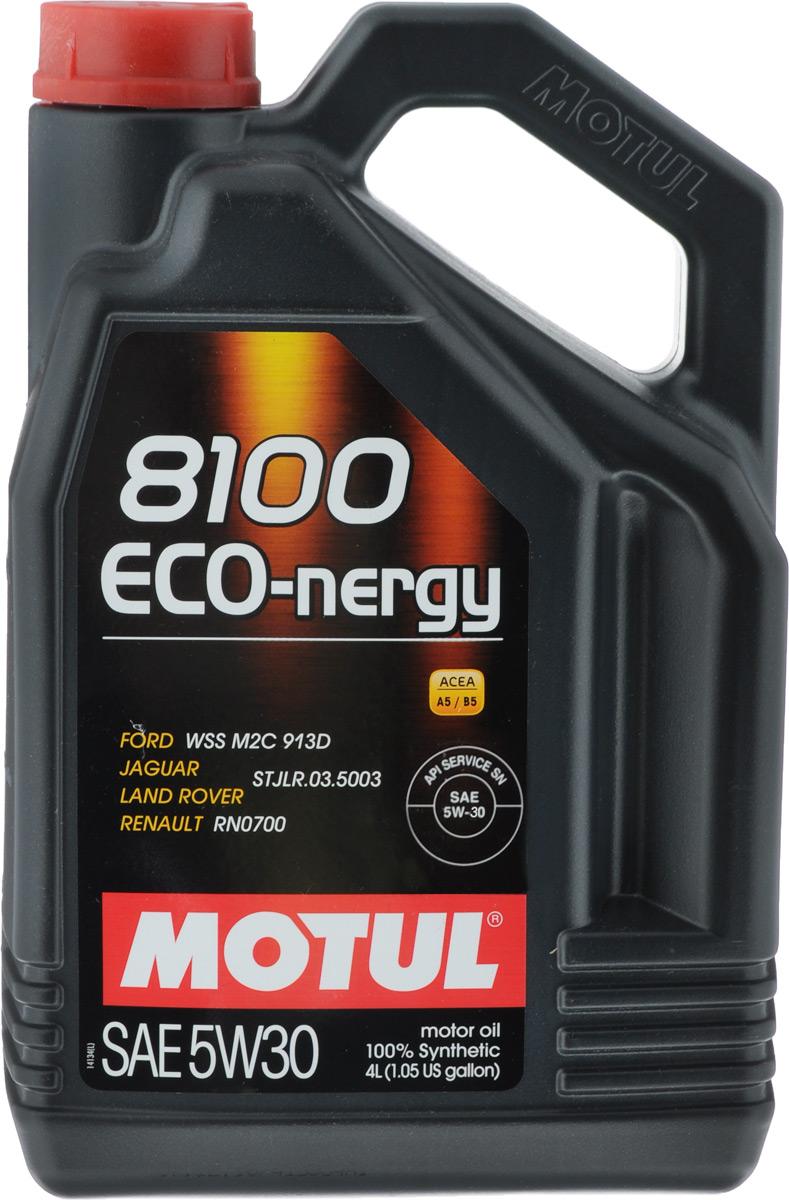 Масло моторное Motul 8100 Eco-nergy, синтетическое, 5W-30, 4 л550040542100% синтетическое моторное масло для бензиновых и дизельных двигателей.Энергосберегающее 100% синтетическое моторное масло разработано специально для мощных современных бензиновых и дизельных двигателей автомобилей, в том числе с непосредственным впрыском, для которых предусмотрено использование масел с низкой высокотемпературной вязкостью в условиях высоких скоростей сдвига (HTHS). Предназначено для бензиновых и дизельных двигателей, созданных по новым технологиям, для которых предписаны масла Fuel Economy (ACEA A1/B1 и А5/В5). Совместимо с системами нейтрализации отработавших газов. ACEA Стандарты: ACEA A5/B5API Стандарты: API SL/CFОдобрения: FORD WSS M2C 913D; Jaguar, Land Rover STJLR.03.5003; Renault RN0700.