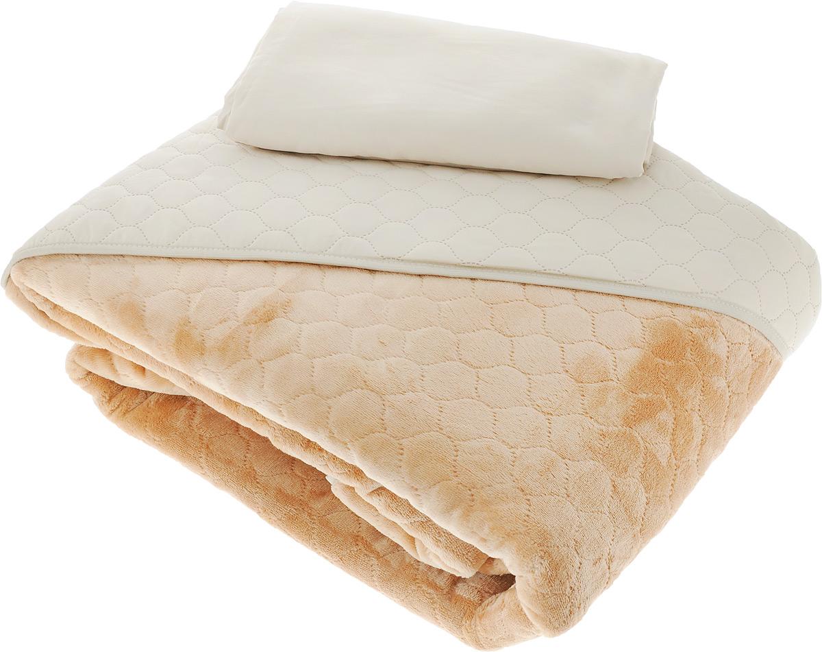 Комплект для спальни Sleep iX Multi Set: покрывало 220 х 240 см, простыня 230 х 240 см, 2 наволочки 50 х 70 см, цвет: бежевый, светло-рыжий100-49000000-60Комплект для спальни Sleep iX Multi Set состоит из покрывала, простыни и 2 наволочек. Верх многофункционального одеяла-покрывала выполнен из мягкой высокотехнологичной ткани, которая хорошо сохраняет тепло, устойчива к стирке и износу, а низ выполнен из нежного искусственного меха. Такой мех не требует специального ухода, он легко чистится и долгое время сохраняет мягкость и внешний вид. Наволочки и простыня выполнены из микрофибры. Комплект для спальни Sleep iX Multi Set - отличный способ придать спальне уют и привнести в интерьер что-то новое.Размер покрывала: 220 х 240 см. Размер наволочки: 50 х 70 см. Размер простыни: 230 х 240 см.Комплект упакован в сумку-чехол на застежке-молнии.