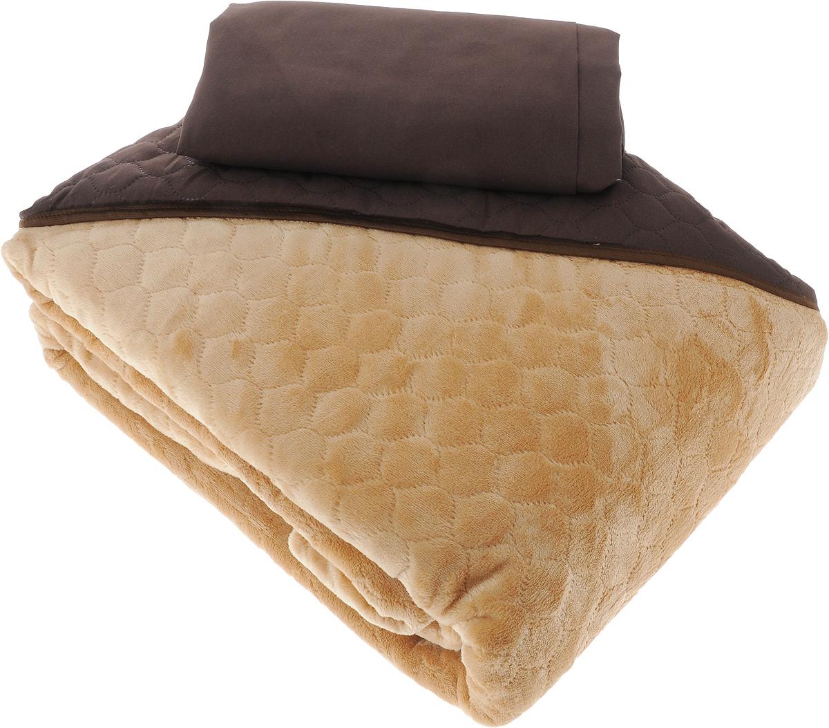 Комплект для спальни Sleep iX Multi Set: покрывало 220 х 240 см, простыня 230 х 240 см, 2 наволочки 50 х 70 см, цвет: коричневый, рыжийES-412Комплект для спальни Sleep iX Multi Set состоит из покрывала, простыни и 2 наволочек. Верх многофункционального одеяла-покрывала выполнен из мягкой высокотехнологичной ткани, которая хорошо сохраняет тепло, устойчива к стирке и износу, а низ выполнен из нежного искусственного меха. Такой мех не требует специального ухода, он легко чистится и долгое время сохраняет мягкость и внешний вид. Наволочки и простыня выполнены из микрофибры.Комплект для спальни Sleep iX Multi Set - отличный способ придать спальне уют и привнести в интерьер что-то новое.Размер покрывала: 220 х 240 см. Размер наволочки: 50 х 70 см. Размер простыни: 230 х 240 см.Комплект упакован в сумку-чехол на застежке-молнии.