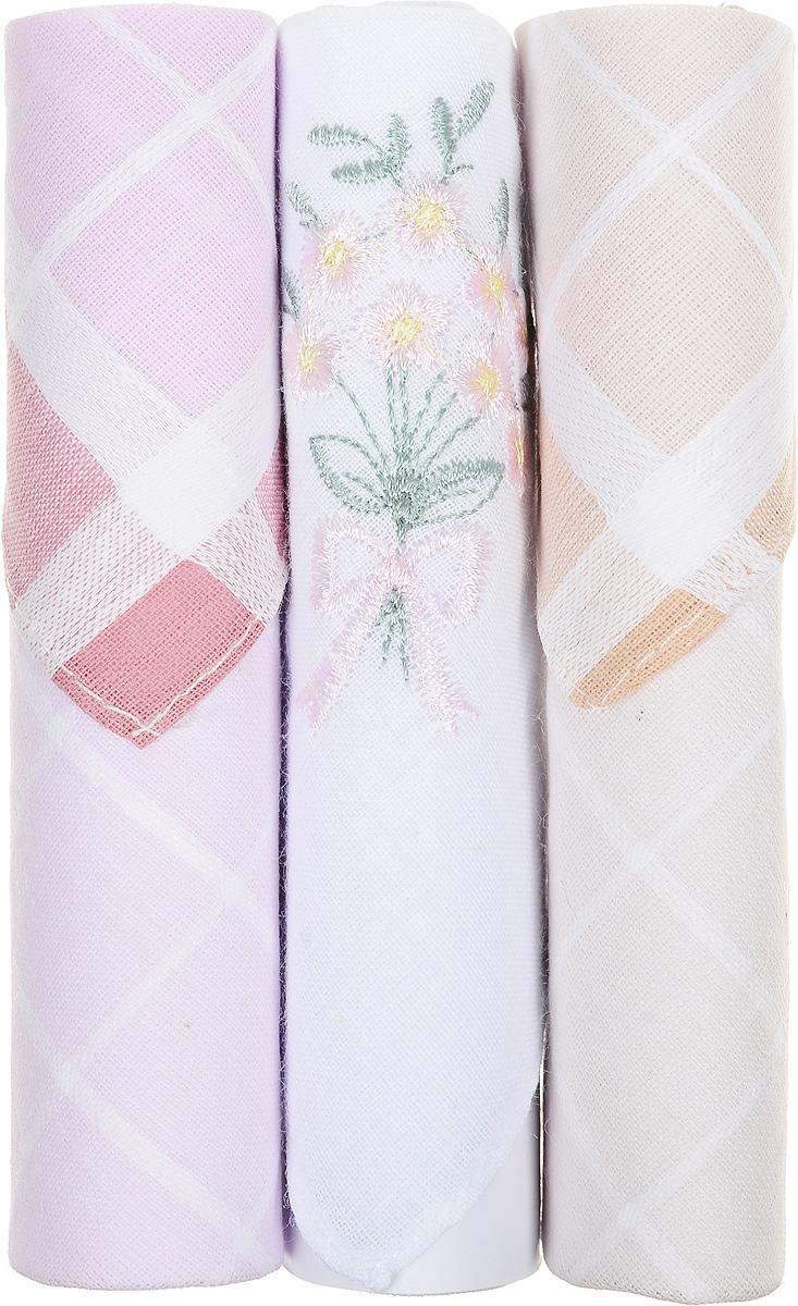 Платок носовой женский Zlata Korunka, цвет: розовый, белый, бежевый, 3 шт. 40423-105. Размер 28 см х 28 смСерьги с подвескамиНебольшой женский носовой платок Zlata Korunka изготовлен из высококачественного натурального хлопка, благодаря чему приятен в использовании, хорошо стирается, не садится и отлично впитывает влагу. Практичный и изящный носовой платок будет незаменим в повседневной жизни любого современного человека. Такой платок послужит стильным аксессуаром и подчеркнет ваше превосходное чувство вкуса.В комплекте 3 платка.
