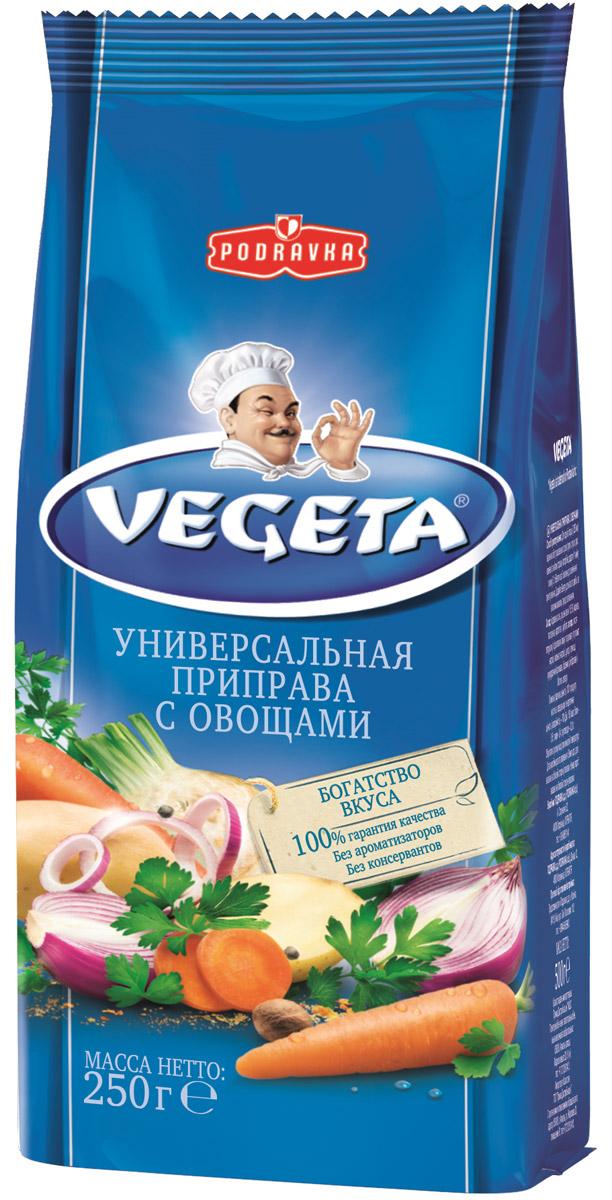 Vegeta универсальная приправа с овощами, 250 г0120710Vegeta - надежный спутник ваших кулинарных приключений уже более 50 лет. Приправа Vegeta продолжает оставаться одним из самых известных хорватских продуктов, без которого практически невозможно представить себе приготовление пищи.Область применения этой комбинации сушеных овощей и специй не ограничена: это и овощи, и мясо, и гарниры, и все, что угодно на гриле, и минималистские блюда, и блюда из сложных деликатесов - одной чайной ложки приправы Vegeta всегда достаточно, чтобы почувствовать тонкую разницу. Поэтому, готовя еду, дайте свободу своей фантазии и наслаждайтесь - еще много новых комбинаций приправы Vegeta ждет встречи с вами!Уважаемые клиенты! Обращаем ваше внимание, что полный перечень состава продукта представлен на дополнительном изображении.