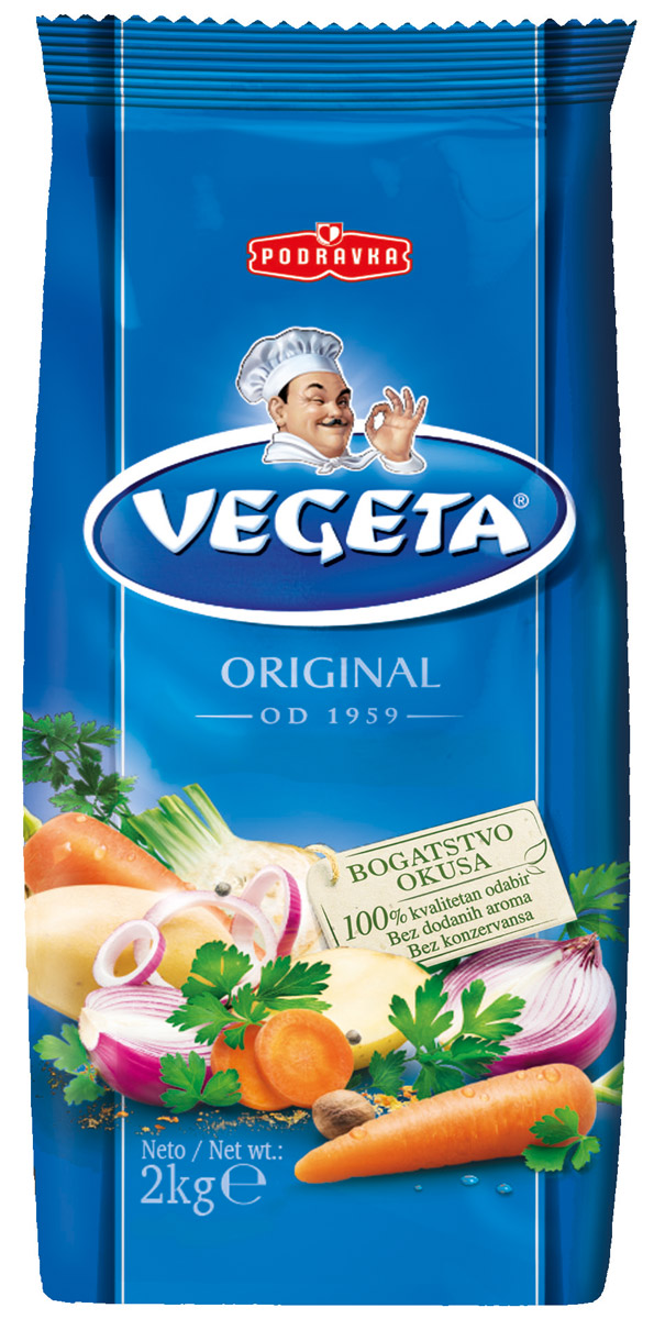 Vegeta универсальная приправа с овощами, 2 кг0120710Надежный спутник ваших кулинарных приключений уже более 50 лет, приправа Vegeta продолжает оставаться одним из самых известных хорватских продуктов, без которого практически невозможно представить себе приготовление пищи.Область применения этой комбинации сушеных овощей и специй не ограничена: это и овощи, и мясо, и гарниры, и все, что угодно на гриле, и минималистские блюда, и блюда из сложных деликатесов - одной чайной ложки приправы Vegeta всегда достаточно, чтобы почувствовать тонкую разницу. Поэтому, готовя еду, дайте свободу своей фантазии и наслаждайтесь - еще много новых комбинаций приправы Vegeta ждет встречи с вами!Уважаемые клиенты! Обращаем ваше внимание, что полный перечень состава продукта представлен на дополнительном изображении.