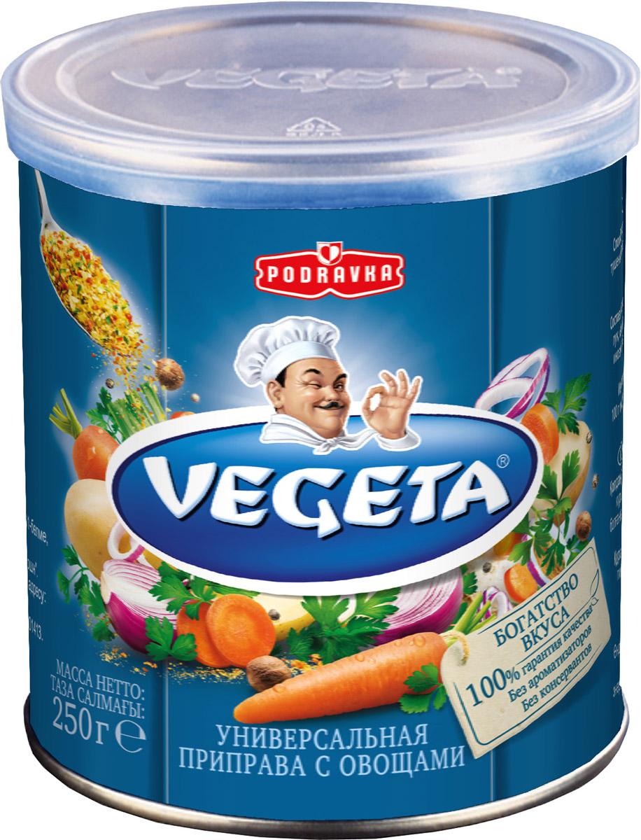 Vegeta универсальная приправа с овощами жестяная банка, 250 г0120710Надежный спутник ваших кулинарных приключений уже более 50 лет, приправа Vegeta продолжает оставаться одним из самых известных хорватских продуктов, без которого практически невозможно представить себе приготовление пищи. Область применения этой комбинации сушеных овощей и специй не ограничена: это и овощи, и мясо, и гарниры, и все, что угодно на гриле, и минималистские блюда, и блюда из сложных деликатесов - одной чайной ложки приправы Vegeta всегда достаточно, чтобы почувствовать тонкую разницу. Поэтому, готовя еду, дайте свободу своей фантазии и наслаждайтесь - еще много новых комбинаций приправы Vegeta ждет встречи с вами!