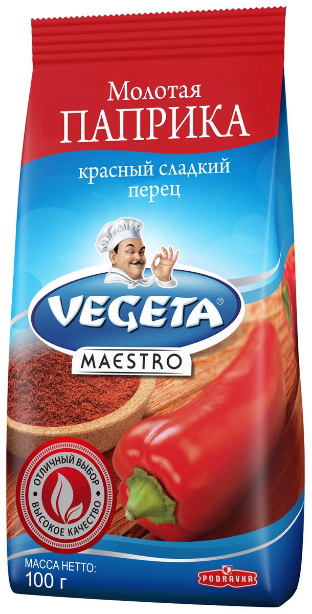 Podravka Паприка молотая сладкая, 100 г291001Красный сладкий перец от Podravka, смолотый в порошок с почти шелковой текстурой, с легкостью найдет себе место в любом блюде. Нет такого овощного блюда, гуляша, мяса, блюда из риса, соуса или блюда с творогом или сыром, чей вкус можно назвать полным, если в него не добавлена эта супер-пряность. Кроме приятного сладковатого аромата, столь же важен и узнаваем ярко красный цвет этого продукта, которым он обогащает все блюда: рядом с ним все другие специи и пряности краснеют от зависти! 100% натуральный продукт.Уважаемые клиенты! Обращаем ваше внимание на то, что упаковка может иметь несколько видов дизайна. Поставка осуществляется в зависимости от наличия на складе.