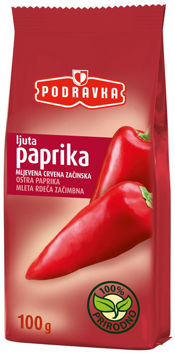 Podravka Красный перец острый молотый, 100 г21073128Красный перец острый молотый Podravka - это прекрасное решение, если нужно добавить остроты блюду, потому что, внимательно дозируя его, вы сами определяете интенсивность вкуса.Небольшое количество красного острого перца сделает блюдо лишь чуть-чуть более острым, а при добавлении немного большего количества вас ждет настоящий вкусовой фейерверк, независимо от того, что вы готовите - классическое овощное блюдо, венгерский паприкаш или мексиканскую фасоль.100% натуральный красный острый перец от Podravka зажигает в мире специй!