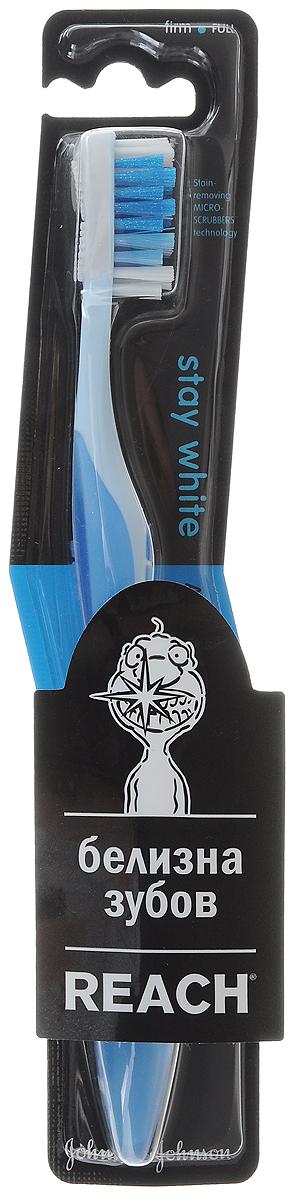 Reach Зубная щетка Stay White, жесткая, цвет: голубойMP59.4DReach Зубная щетка Stay White, жесткая, цвет: голубой