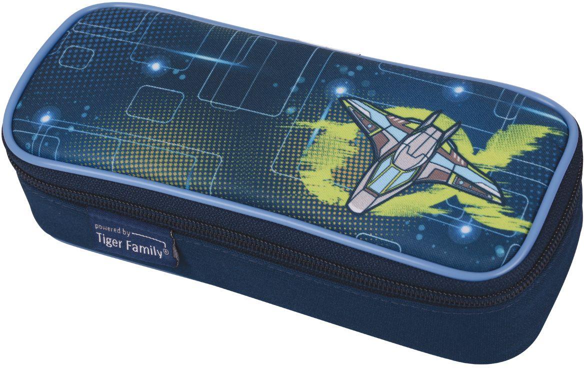 Tiger Enterprise Пенал Neon Alpha72523WDПенал Tiger Enterprise Neon Alpha станет не только практичным, но и стильным аксессуаром для любого школьника. Пенал прямоугольной формы выполнен из прочного полиэстера и состоит из одного вместительного отделения, закрывающегося на застежку-молнию. Язычок на застежке-молнии выполнен в виде бабочки. Пенал оформлен принтом с изображением космического корабля. Такой пенал станет незаменимым помощником для школьника, с ним ручки и карандаши всегда будут под рукой и больше не потеряются.