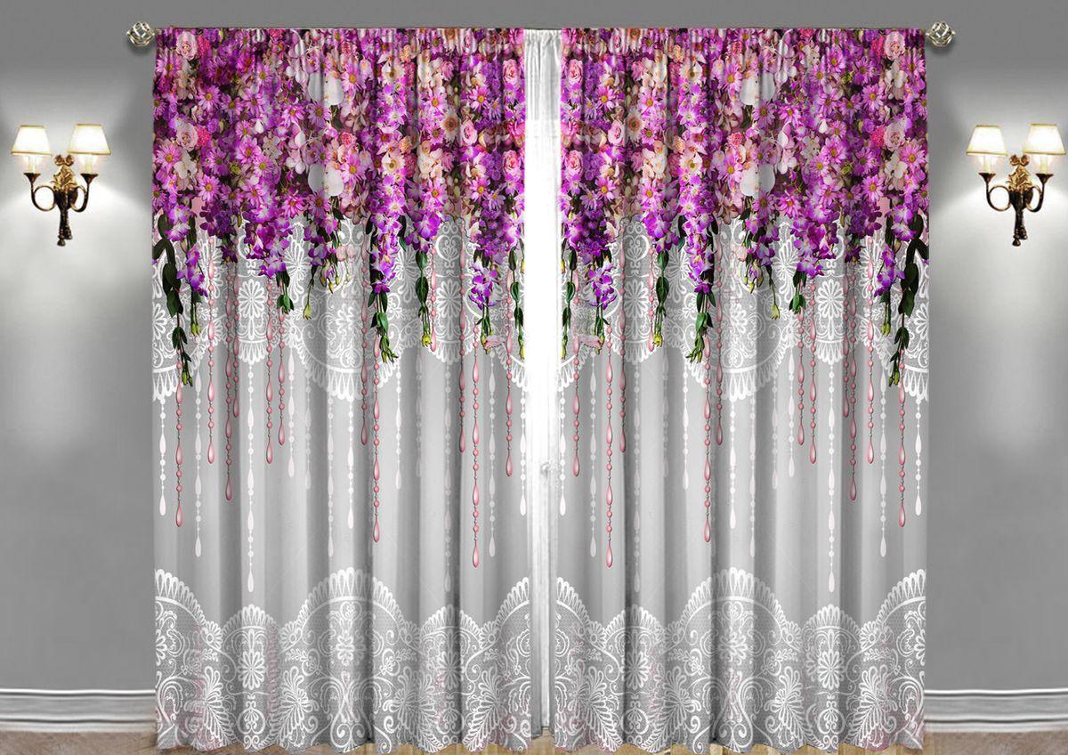 Комплект фотоштор Zlata Korunka Волшебный сад, на ленте, цвет: серый, высота 270 см1004900000360Комплект фотоштор Zlata Korunka изготовлен из габардиновой ткани высочайшего качества. Фотошторы способны не пропускать самый яркий свет, их можно гладить и стирать. Рекомендации по уходу: бережная стирка при 30°С, деликатный отжим, отбеливание запрещено, гладить при температуре не более 150°С. Светопоглощение 70%. Плотность ткани: 150 г/м2. Оттенок изделия может отличаться от представленного на сайте в силу особенностей цветопередачи фототехники и вашего монитора.