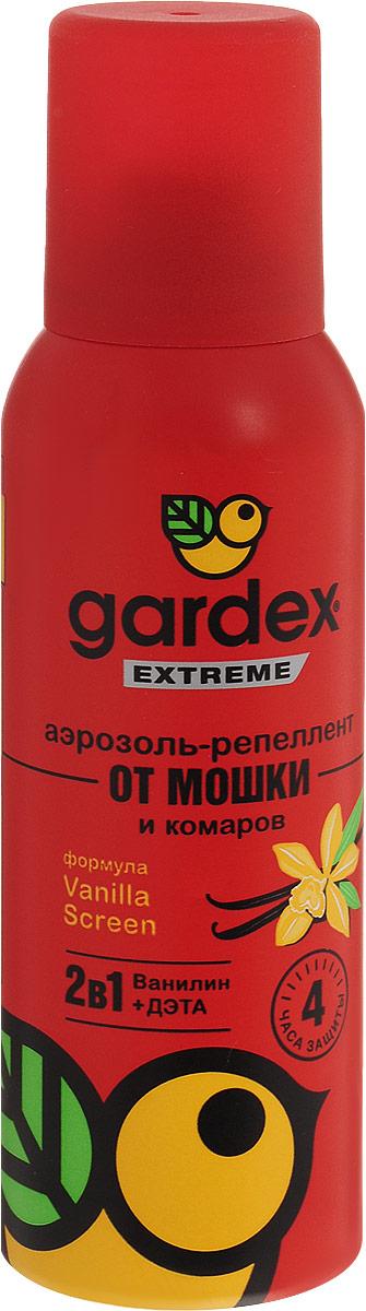 Аэрозоль-репеллент Gardex Extreme от мошки и комаров, 100 мл787502Аэрозоль можно наносить на открытые участки кожи, на одежду и снаряжение только из натуральных тканей. Для равномерного распределения по поверхности наносите аэрозоль с расстояния 10-20 см. Не забывайте наносить средство повторно по истечении указанного на упаковке времени. Характеристики:Состав: N,N-диэтилтолуамид - 15,0%, спирт этиловый, ванилин, бутан, изобутан, пропан. Не содержит озоноразрушающих хладонов! Объем: 100 мл. Товар сертифицирован.Уважаемые клиенты!Обращаем ваше внимание на возможные изменения в дизайне упаковки. Качественные характеристики товара остаются неизменными. Поставка осуществляется в зависимости от наличия на складе.