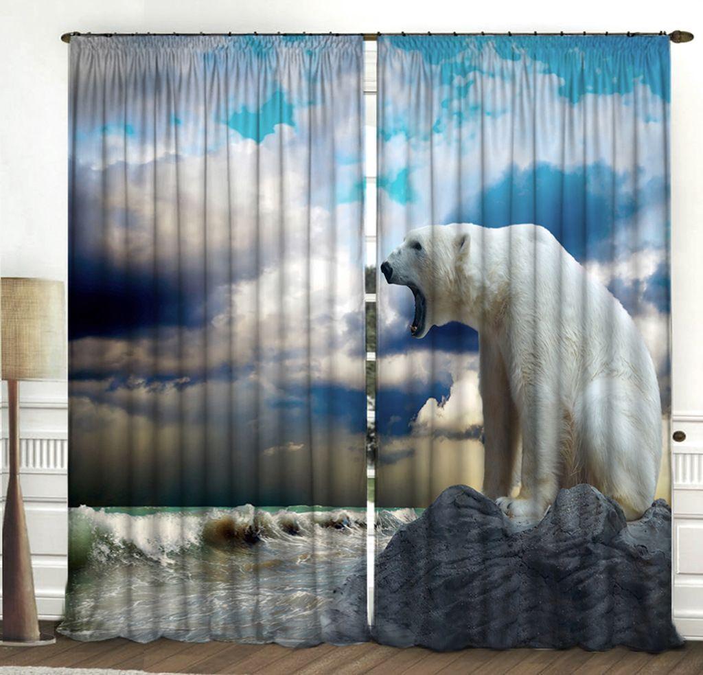 Комплект фотоштор Zlata Korunka Белый медведь, на ленте, высота 270 смES-412Комплект фотоштор Zlata Korunka изготовлен из габардиновой ткани высочайшего качества. Фотошторы способны не пропускать самый яркий свет, их можно гладить и стирать. Рекомендации по уходу: бережная стирка при 30°С, деликатный отжим, отбеливание запрещено, гладить при температуре не более 150°С. Светопоглощение 70%. Плотность ткани: 150 г/м2. Оттенок изделия может отличаться от представленного на сайте в силу особенностей цветопередачи фототехники и вашего монитора.