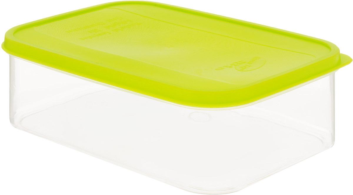 Емкость для продуктов Plastic Centre Bio, цвет: светло-зеленый, прозрачный, 1,3 л115510Многофункциональная емкость Plastic Centre Bio применяется для хранения различных продуктов, разогрева пищи, замораживания ягод и овощей в морозильной камере. При хранении продуктов в холодильнике емкости можно ставить одну на другую, сохраняя полезную площадь холодильника или морозильной камеры. Контейнер выполнен из нетоксичного полипропилена.