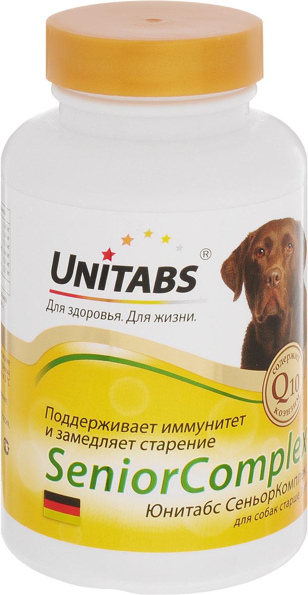 Кормовая добавка Unitabs SeniorComplex для собак старше 7 лет, 100 шт0120710Витаминно-минеральная кормовая добавка Unitabs SeniorComplex замедляет процесс старения, поддерживает иммунитет и нормализует обмен веществ вашего питомца. Предназначена для собак старше 7 лет. Коэнзим Q10, входящий в состав комплекса, является незаменимым элементом для жизнедеятельности организма вашего питомца.Количество: 100 таблеток. Товар сертифицирован.