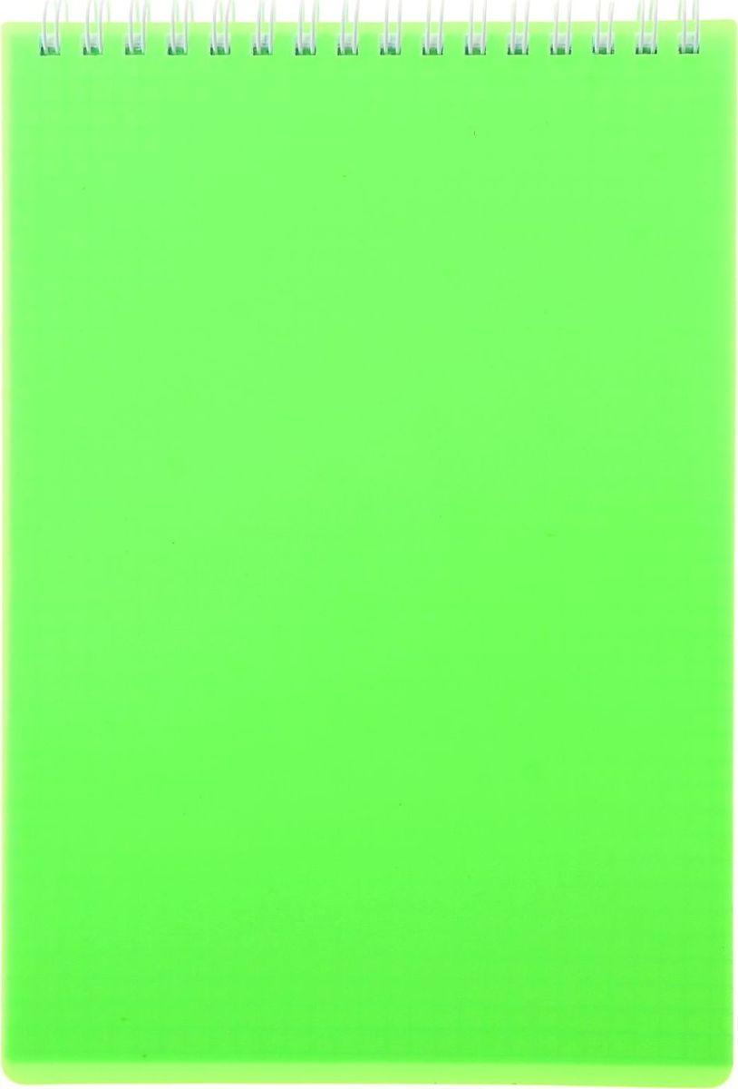 Hatber Блокнот Diamond Neon 80 листов в клетку цвет зеленый Формат А5123474Блокнот - компактное и практичное полиграфическое изделие, предназначенное для записей и заметок. Такой аксессуар прекрасно подойдёт для фиксации повседневных дел.Блокнот Hatber Diamond Neon на спирали содержит 80 листов в клетку формата А5. Обложка выполнена из пластика.Это канцелярское изделие отличается красочным оформлением и придётся по душе как взрослому, так и ребёнку.