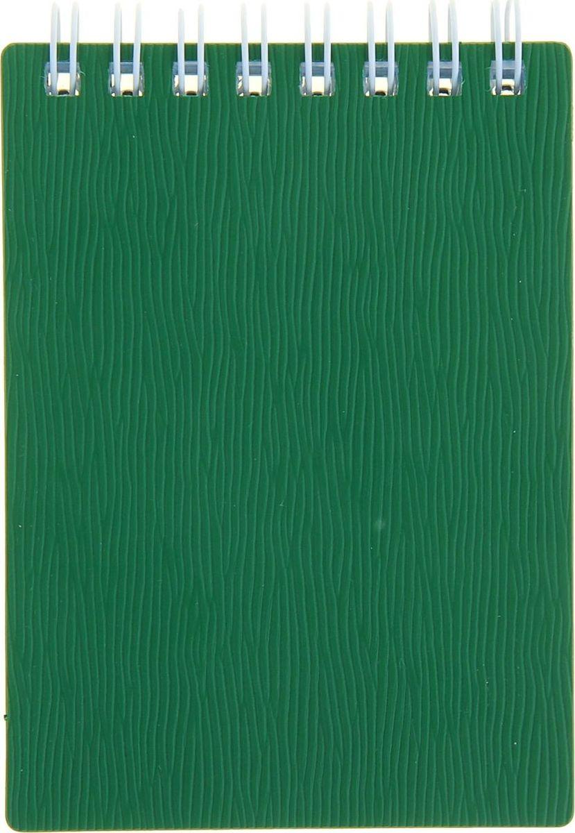 Hatber Блокнот Wood 80 листов цвет зеленый