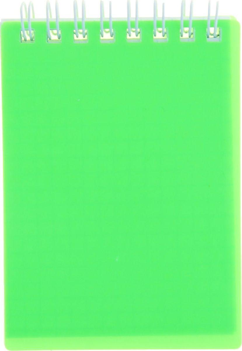 Hatber Блокнот Diamond Neon 80 листов в клетку цвет зеленый Формат А7