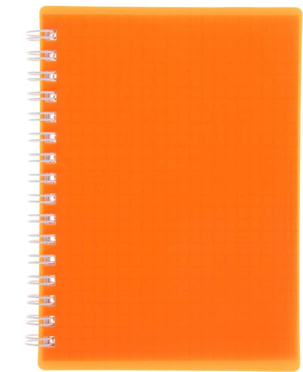 Hatber Записная книжка Diamond Neon 80 листов цвет оранжевый0703415Блокнот — компактное и практичное полиграфическое изделие, предназначенное для записей и заметок. Такой аксессуар прекрасно подойдет для фиксации повседневных дел. Это канцелярское изделие отличается красочным оформлением и придется по душе как взрослому, так и ребенку. Записная книжка пластиковая обложка А6, 80 листов на гребне DIAMOND NEON, оранжевая обладает всеми необходимыми характеристиками, чтобы стать вашим полноценным помощником на каждый день.