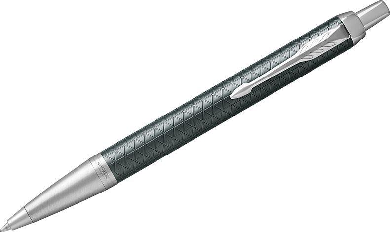 Parker Ручка шариковая IM Premium Green CT синяя0102016Шариковая ручка в корпусе из зеленого матового анодированного алюминия, прошедшего пескоструйную обработку, с фирменным гравированным рисунком. Хромированная отделка деталей с полировкой