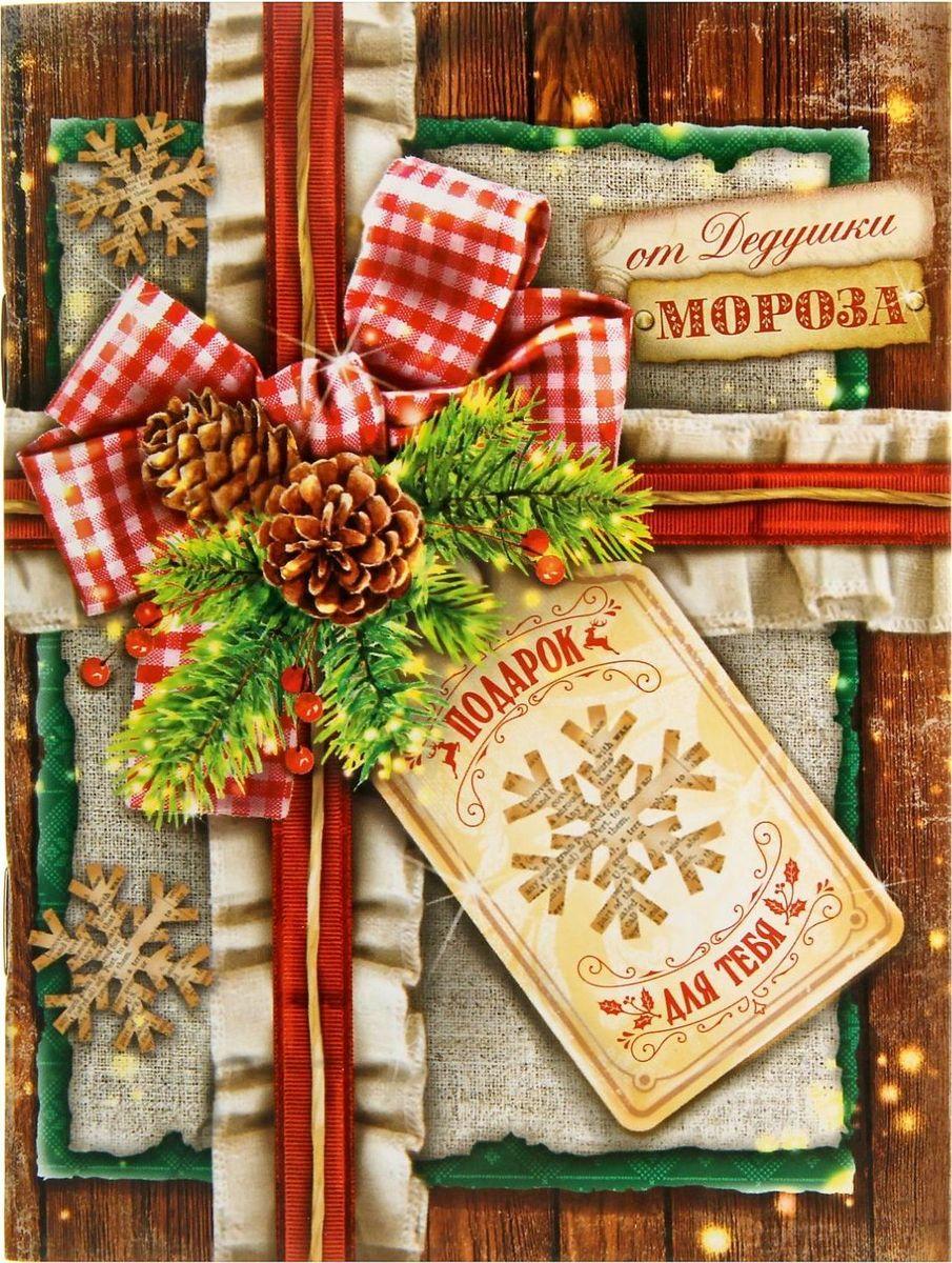 Блокнот-открытка Подарок от Дедушки Мороза 15 листов72523WDСчастья в Новом году! Хотите преподнести другу или коллеге памятный, полезный и в то же время недорогой подарок? Блокнот-открытка — то, что нужно! 30 листов со стильным принтом, место для подписи на форзаце и оригинальное оформление обложки делают его прекрасным подарком. Счастливый обладатель будет записывать важную информацию и хранить нужные данные.