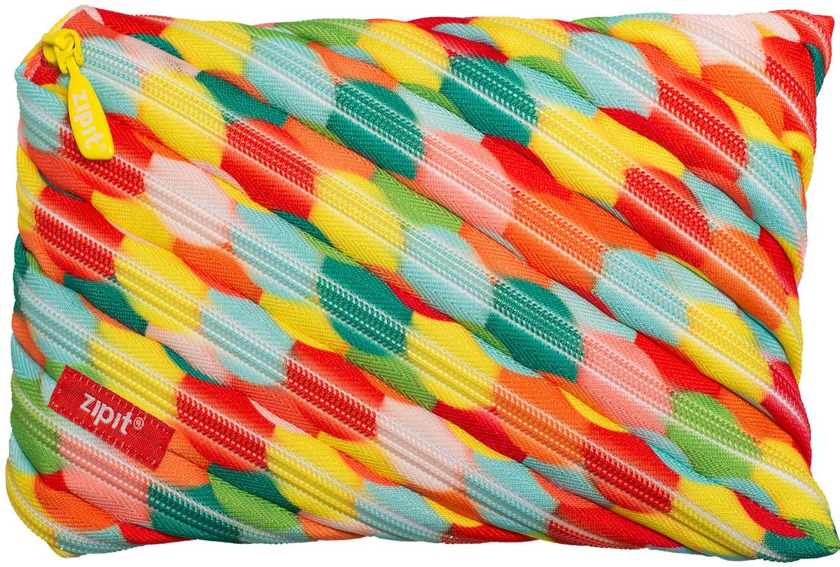 Zipit Пенал Colors Jumbo Pouch цвет мультиколор ZTJ-CZ-LBUB72523WDЯркий пенал Zipit Colors Jumbo Pouch изготовлен из одной длинной застежки-молнии и оформлен красочным принтом. Он удобен для разных мелочей и пишущих принадлежностей.