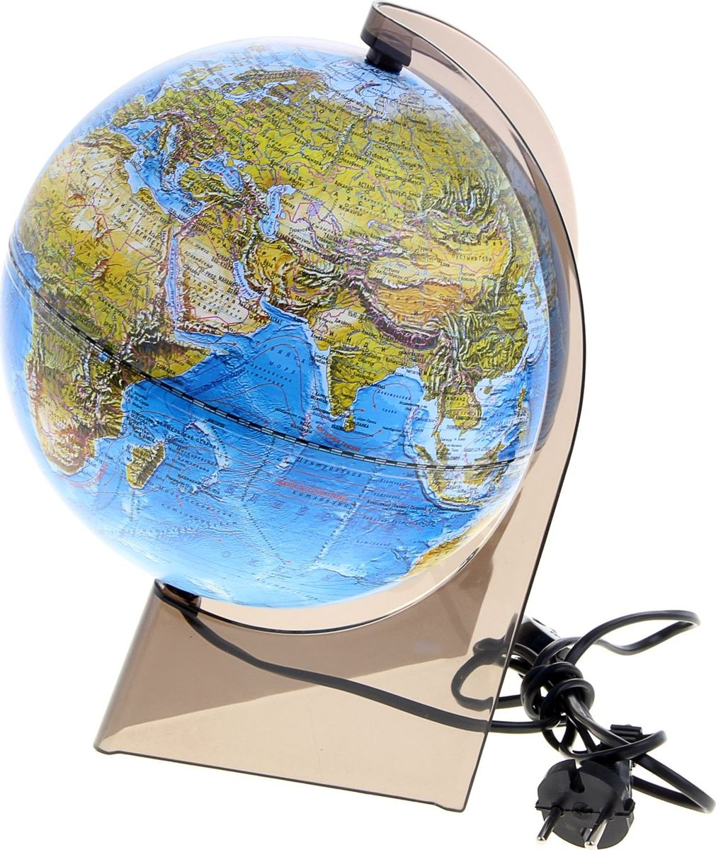 Глобусный мир Глобус ландшафтный с подсветкой диаметр 21 см -  Канцтовары и организация рабочего места