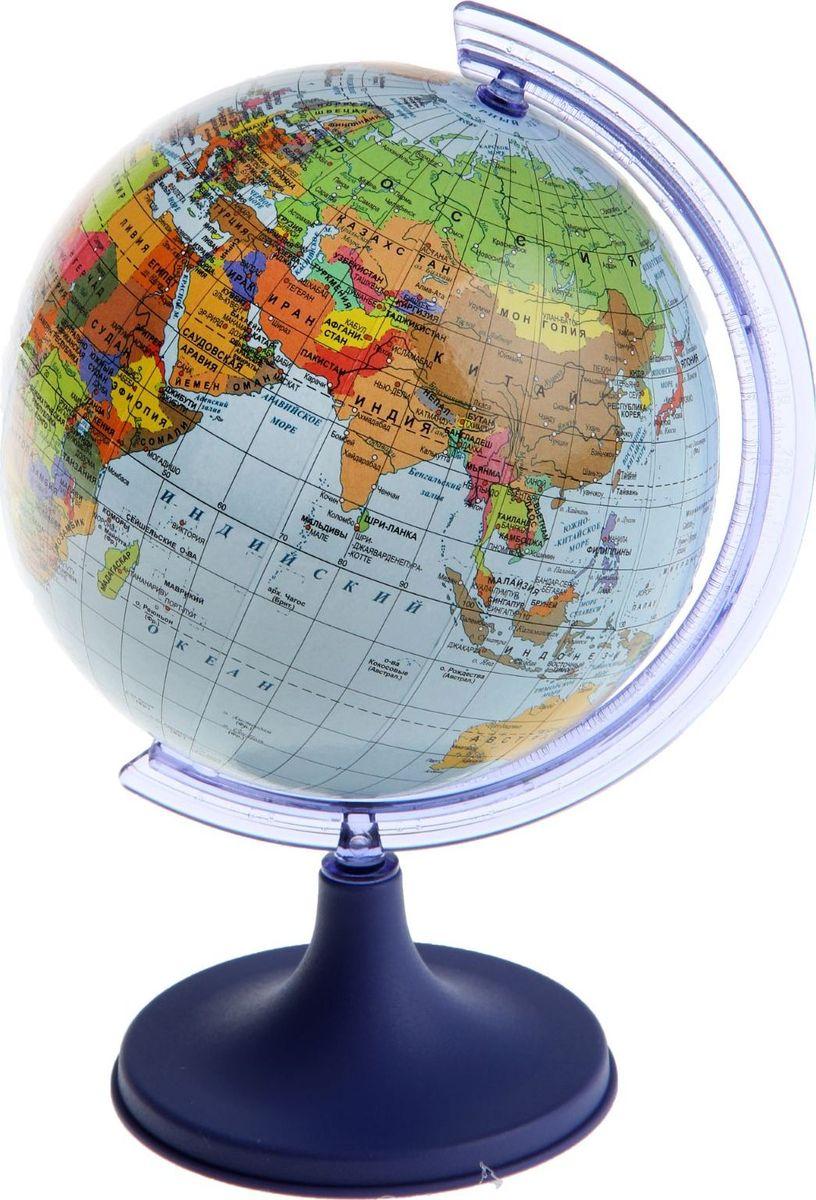 Glowala Глобус политический диаметр 11 смFS-00897Глобус для всех, глобус каждому!Глобус — самый простой способ привить ребенку любовь к географии. Он является отличным наглядным примером, который способен в игровой доступной и понятной форме объяснить понятия о планете Земля.Также интерес к глобусам проявляют не только детки, но и взрослые. Для многих уменьшенная копия планеты заменяет атлас мира из-за своей доступности и универсальности.Умный подарок! Кому принято дарить глобусы? Всем! Глобус политический диаметр 110мм — это уменьшенная копия земного шара, в которой каждый найдет для себя что-то свое.путешественники и заядлые туристы смогут отмечать с помощью стикеров те места, в которых побывали или собираются их посетитьделовые и успешные люди оценят такой подарок по достоинству, потому что глобус ассоциируется со статусом и властьюпреподаватели, ученые, студенты или просто неординарные личности также найдут для глобуса достойное место в своем доме.Итак, спешите заказать настольные глобусы в нашем интернет-магазине по привлекательным ценам, и помните, кто владеет глобусом, тот владеет миром!