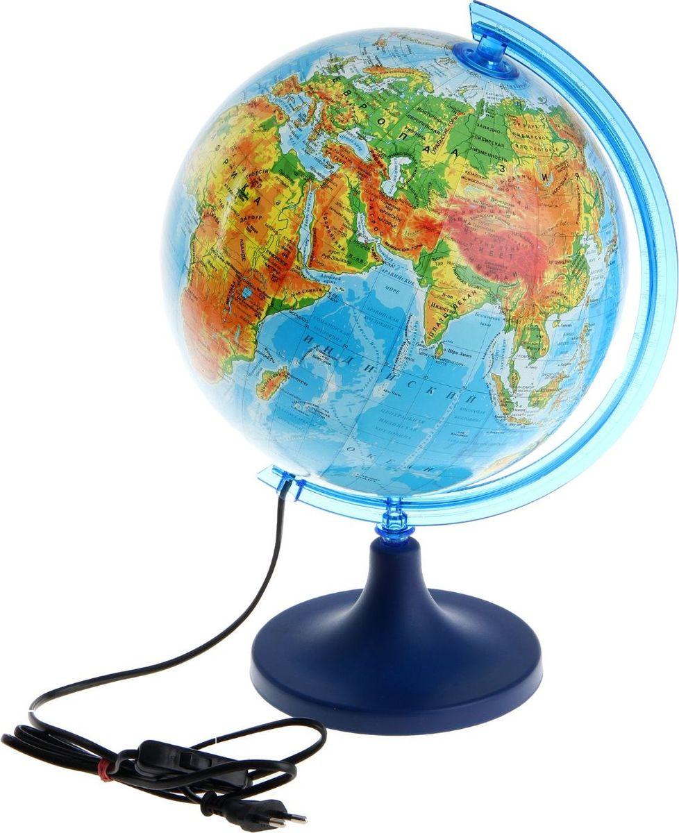 Glowala Глобус физический с подсветкой диаметр 25 см -  Глобусы