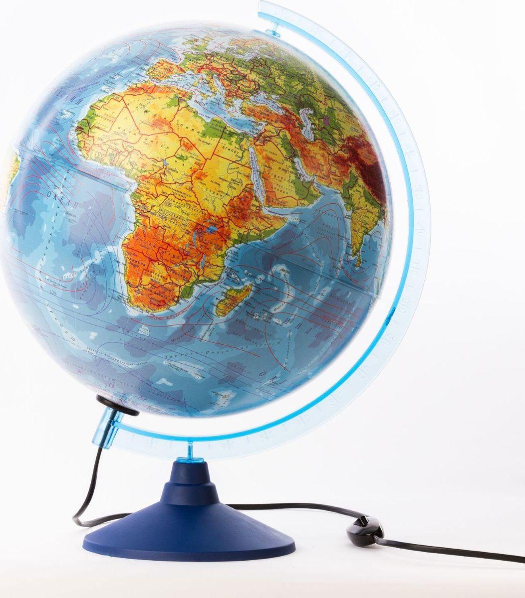 Глобен Глобус физико-политический Классик Евро с подсветкой диаметр 32 смFS-54102Глобус для всех, глобус каждому!Глобус — самый простой способ привить ребенку любовь к географии. Он является отличным наглядным примером, который способен в игровой доступной и понятной форме объяснить понятия о планете Земля.Также интерес к глобусам проявляют не только детки, но и взрослые. Для многих уменьшенная копия планеты заменяет атлас мира из-за своей доступности и универсальности.Умный подарок! Кому принято дарить глобусы? Всем! Глобус физико-политический диаметр 320мм Классик Евро, с подсветкой — это уменьшенная копия земного шара, в которой каждый найдет для себя что-то свое.путешественники и заядлые туристы смогут отмечать с помощью стикеров те места, в которых побывали или собираются их посетитьделовые и успешные люди оценят такой подарок по достоинству, потому что глобус ассоциируется со статусом и властьюпреподаватели, ученые, студенты или просто неординарные личности также найдут для глобуса достойное место в своем доме.Итак, спешите заказать настольные глобусы в нашем интернет-магазине по привлекательным ценам, и помните, кто владеет глобусом, тот владеет миром!