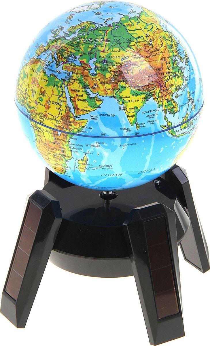 Глобус Физическая карта на английском языке диаметр 14,2 см -  Канцтовары и организация рабочего места